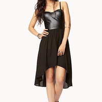 Faux Leather Cutout Dress