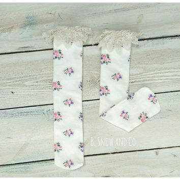 Lace boot socks, toddler boot socks, cowboy boot socks, girls boot socks, vintage country boot socks, fall leg warmers, winter leg warmers