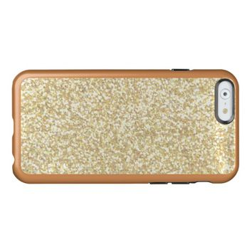 Cool Light Gold Glitter Incipio Feather® Shine iPhone 6 Case