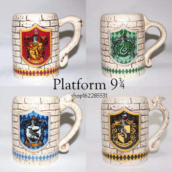 Gryffindor harry potter slytherin anaglyph beer mug cup four yuan