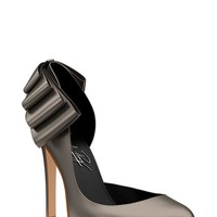 Women's Shoes of Prey Metallic Leather Half d'Orsay,