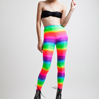 Neon Rainbow Candy Kid Super High Rise Leggings Leggings