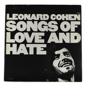 Vintage 70s Leonard Cohen Song of Love and Hate UK Import CBS Album Record Vinyl LP