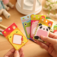 Animal Sticky note sticky memo notepad for DIY scrapbook writing/ office deco/ wall deco/ home fun - cartoon illustration