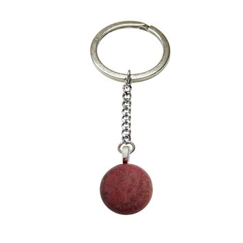 Pink Rhodonite Gemstone Keychain