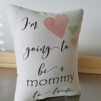 Pregnancy gift pillow expectant mother throw pillow twins cushion
