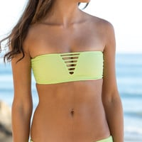 Mary Grace Swim - Luna Reversible Bandeau / Lime
