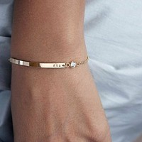 Custom CZ Bar Bracelet