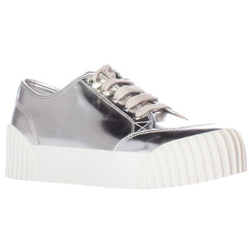 Marc Jacobs Riley Platform Fashion Sneakers - Silver