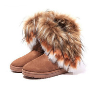 Winter Artificial Fur Boots