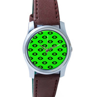 Quirky Eyes Pattern Wrist Watch
