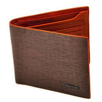 Popular 1PC Men Fashion Billfold Leather Wallet Credit Card Purse Clutch Bifold(Color:Brown)