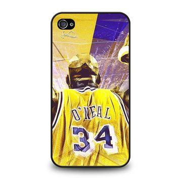 SHAQUILLE O'NEAL LA LAKERS iPhone 4 / 4S Case Cover