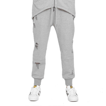 Hysteria Jogger Sweatpants in Heather Grey