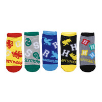 Harry Potter Athletic No-Show Socks 5 Pair