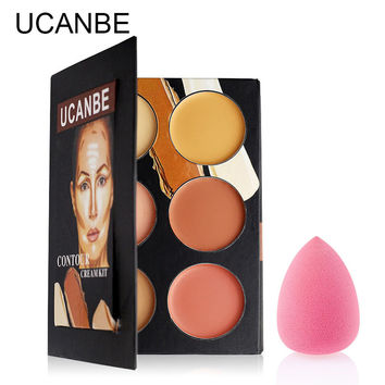 Face Eyes Lips Contour Cream Concealer Palette Highlight Waterproof Silky  Corrector  Base brand Makeup  by UCANBE