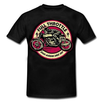 Anime T-shirt graphics Casual men Outwears Popular Design Hip Hop Anime Male T shirt FULL THROTTLE CAFE RACER Special Edition ROCKABILLY BIKER Vintage AT_56_4