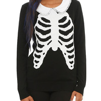Iron Fist Rib Cage Collar Girls Sweater