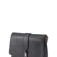 Faux Leather Chain Strap Crossbody
