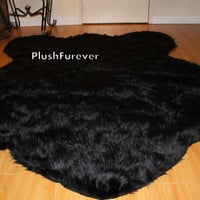 Big BUFFALO/ RUSSIAN Bear Faux Fur Rug, size 5' x 7' feet, luxury faux fur premium rugs, plush soft cozy perfect for Christmas gifts new