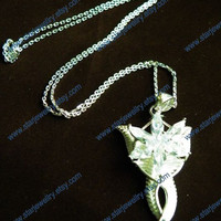 LOTR Arwen Evenstar necklace swarovski crystal The lord of the rings---925sterling-inlay 6pcs crystal version