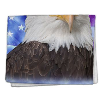 "All American Eagle All Over 11""x18"" Dish Fingertip Towel All Over Print by TooLoud"