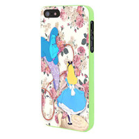 Alice In Wonderland Floral iPhone 5 Case Framed Green