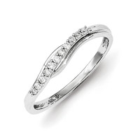 Sterling Silver Diamond Polished Ring