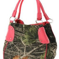 Camouflage Bucket Purse Pink Trim Camo Hobo Bag