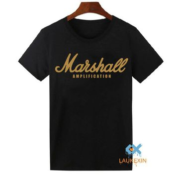 Marshall T Shirt Logo Amps Amplification Guitar Hero Hard Rock Cafe Music Muse Tops Tee Shirts For Men Women T-shirt Plus Size