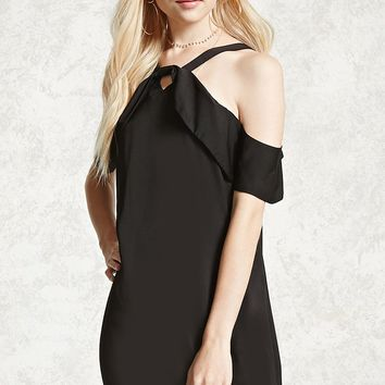 Contemporary Open-Shoulder Dress