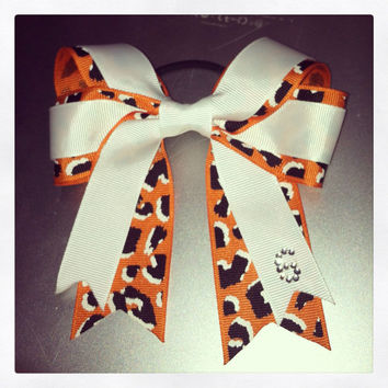 Cheetah Sports Hair Bow