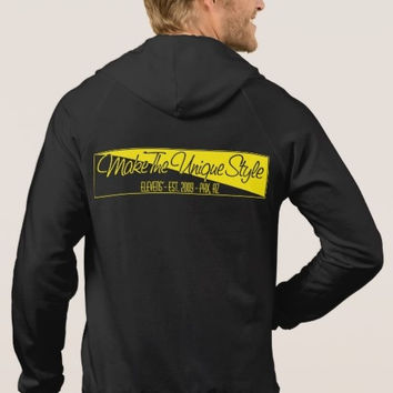 Make The Unique Style Golden Ticket Zip-Up Hoodie Sweater Black