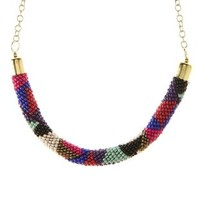 Seed Beaded Rope Necklace by Charlotte Russe