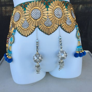 Boho belt Jingly Unisex Gypsy Belt Music festival Belt Burning man Costume Belly dancing Belt