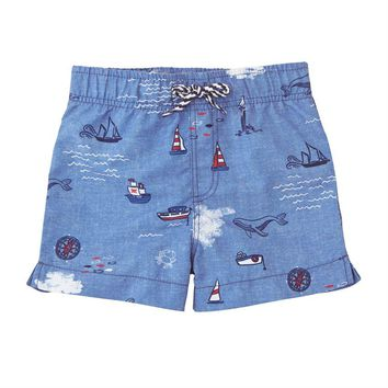 MUD PIE SAIL AWAY SWIM TRUNKS
