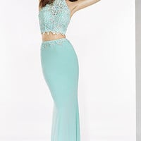 Two Piece High Neck Prom Dress by Alyce