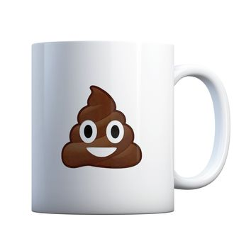 Poop Face Emoji 11 oz Coffee Mug Ceramic Coffee and Tea Cup