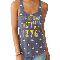 4th of July Party Like Its 1776 Tank Top Tee T Shirt - Red White and Blue USA Fourth of July America American Flag Liam Payne 1D 1 Direction
