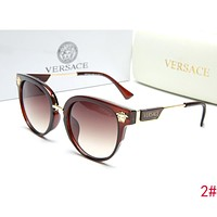 """Versace"" Popular Women Summer Sun Shades Eyeglasses Glasses Sunglasses Coffee I-ZXJ"