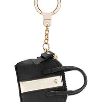 Kate Spade Racer Stripe Maise Keychain Black Multi ONE
