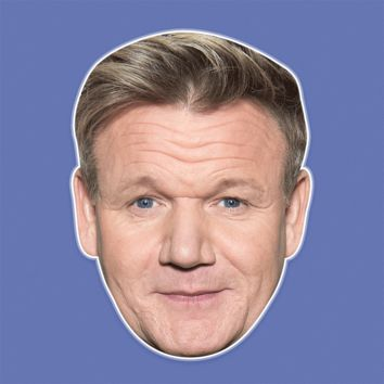 Neutral Gordon Ramsay Mask - Perfect for Halloween, Costume Party Mask, Masquerades, Parties, Festivals, Concerts - Jumbo Size Waterproof Laminated Mask