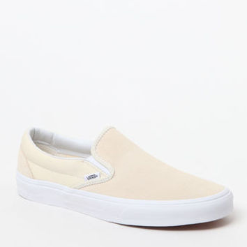 Suede & Canvas Yellow Slip-On Shoes