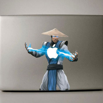 Macbook Decal - Raiden Mortal Kombat - macbook sticker mac decal