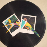 """Painted 12"""" Vinyl Record Wall Hanging NEW SHOP Special Offer"""