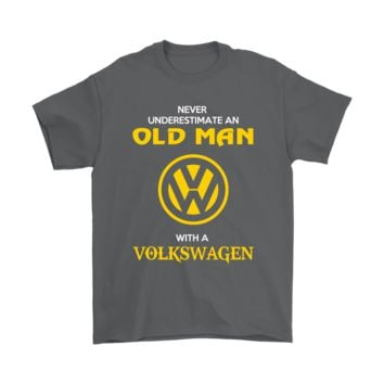 PEAPV4S Never Underestimate An Old Man With A Volkswagen Shirts