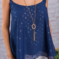 Poolside Fun Tank, Navy