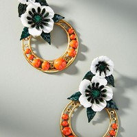 Odessa Hooped Drop Earrings