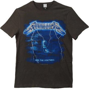 Metallica Men's  Ride The Lightning Slim Fit T-shirt Black