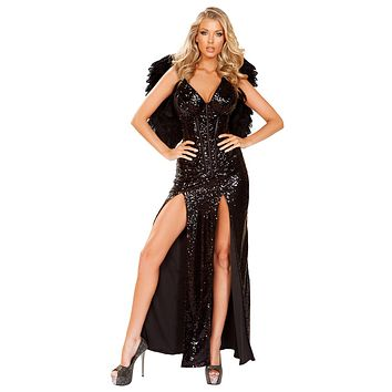 Sexy Dark Angel Corset and Skirt Costume